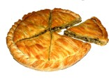 Special peasant greens & cheese pie